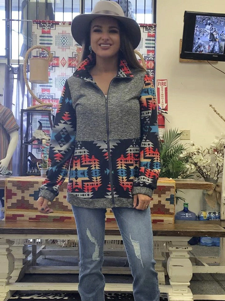 Patron Aztec Zip Up