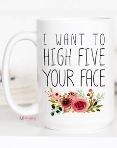 High Five Ceramic Mug