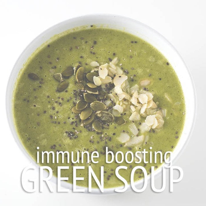Green Immune-Boosting Vegan Soup Recipe
