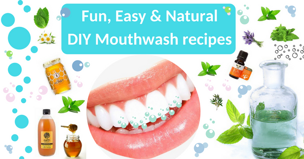 DIY easy mouthwash recipes with essential oils and apple cider vinegar