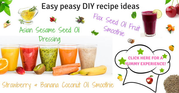 DIY recipes for Asian salad dressing and smoothies using healthy oils