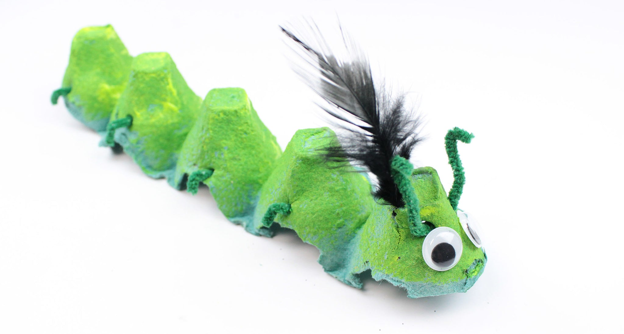 DIY egg carton caterpillar