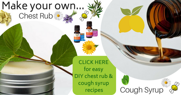 DIY recipes for natural chest rub and cough syrup