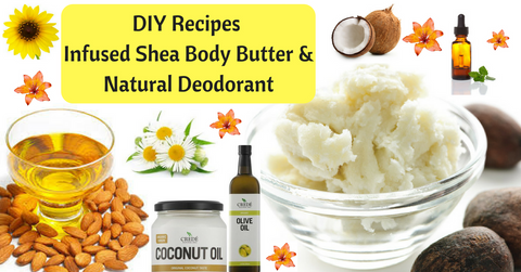Shea Butter and natural deodorant recipes