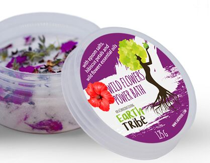 Earth Tribe Africa Wild Flower Power Bath Soak - for Wild Women! (125 g)