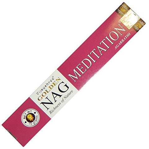 Golden Nag Meditation Incense