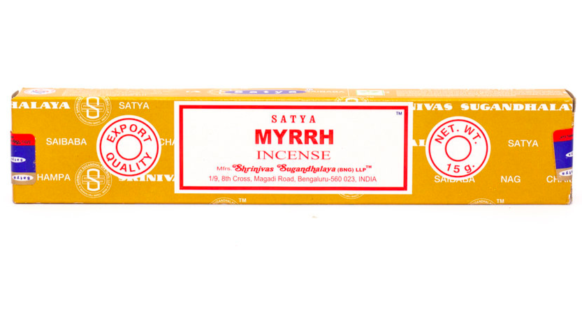 Satya Natural Myrrh Incense - Natural incesne from India. Buy online South Africa