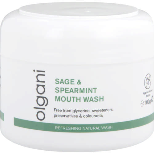 Olgani Natural Sage & Spearmint Mouth Wash and Brushing Salts
