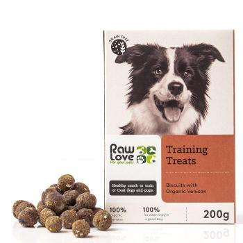 organic free-range venison training treats for pets