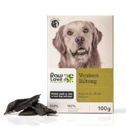 Organic free-range venison biltong treats for pets