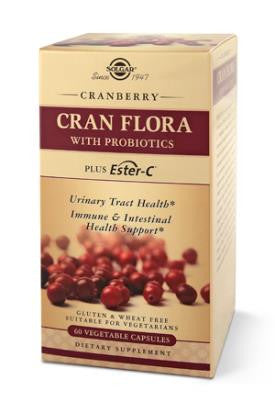 Solgar Cran Flora - With Probiotics and Ester-C for immune system & urinary tract health