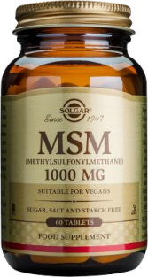 Solgar Extra Strength MSM (Methylsulfonylmethane) 1000mg - (60 tablets)