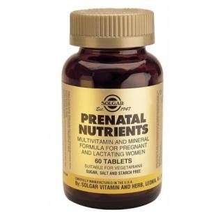 Solgar Prenatal Multivitamin & Mineral Supplement for pregnancy and breastfeeding
