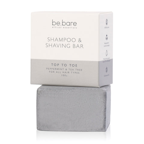 Eco-friendly and natural shampoo & shaving bar (100g) suitable for all hair types