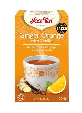 Yogi Organic Tea:  Ginger, Orange & Vanilla