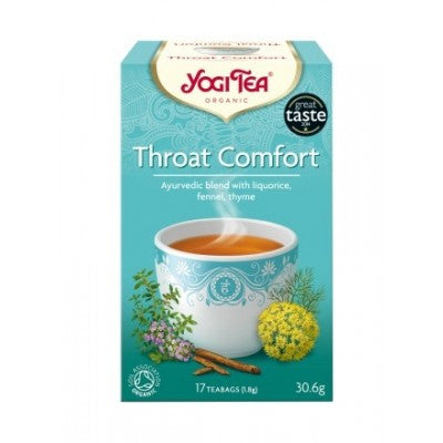 Yogi Organic Throat Comfort Tea:  Soothing, warming & protective
