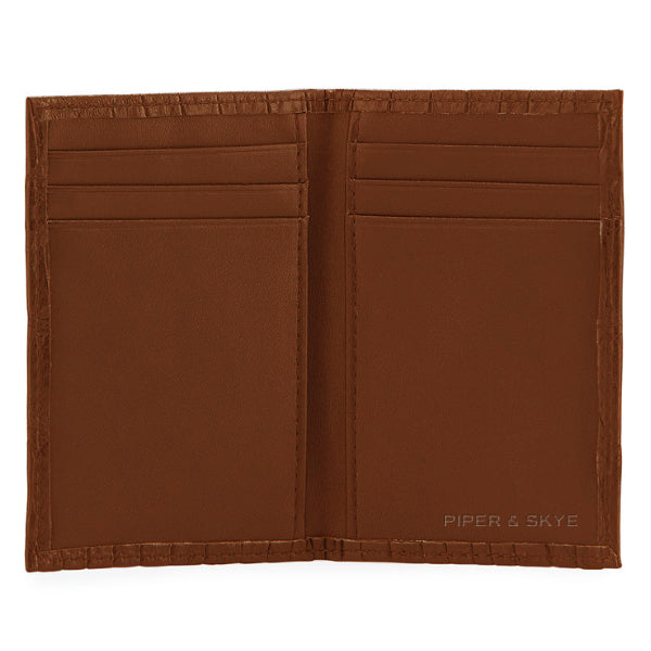 Richmond Bi-Fold Wallet - Cognac Alligator