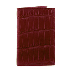 Richmond Bi-Fold Wallet - Merlot Alligator