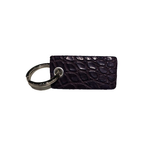 Villa Keychain - Black Alligator
