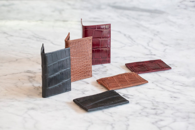 toronto luxury alligator skin bi-fold wallet