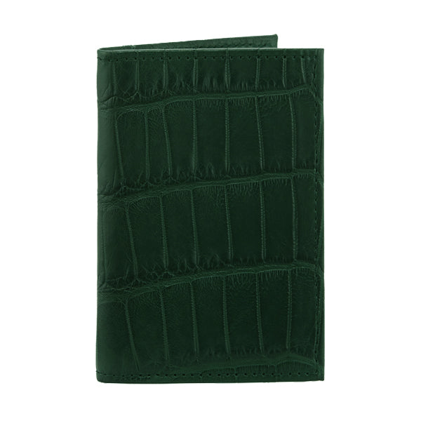 Richmond Bi-Fold Wallet - Forest Green Alligator - PRE_ORDER