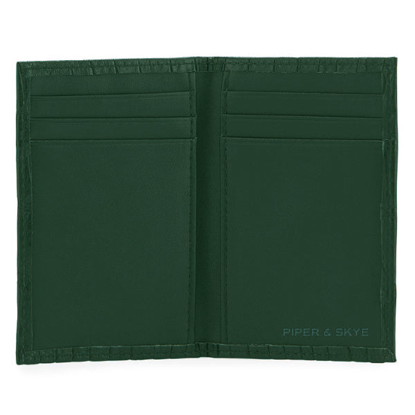 Richmond Bi-Fold Wallet - Forest Green Alligator