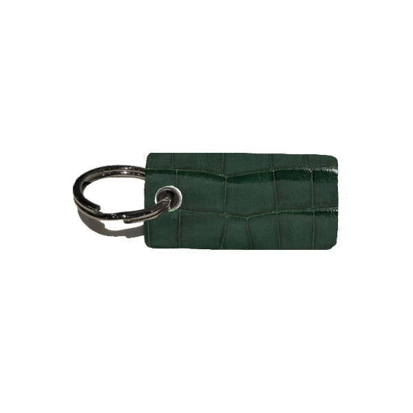 Villa Keychain - Forest Green Alligator