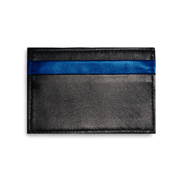 Adelaide Wallet - Midnight Black Alligator W/ Cobalt Lamb