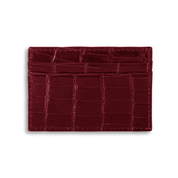 Adelaide Wallet - Merlot Alligator