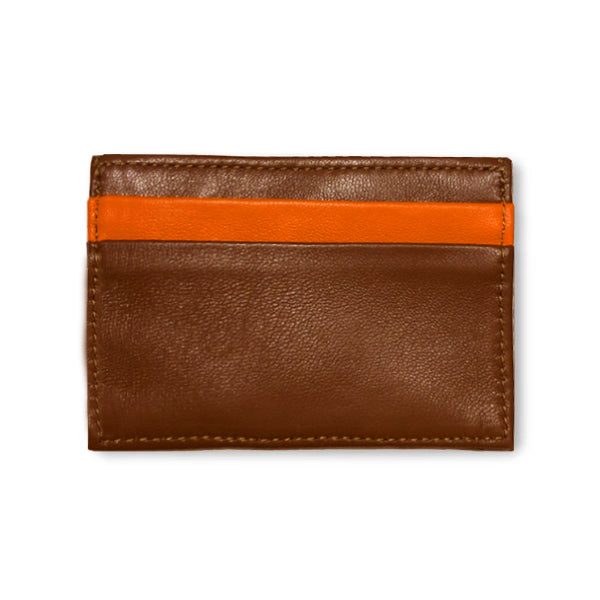 Adelaide Wallet - Cognac Alligator w/ Orange Lamb