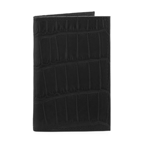 Richmond Bi-Fold Wallet - Black Alligator w/ Cobalt