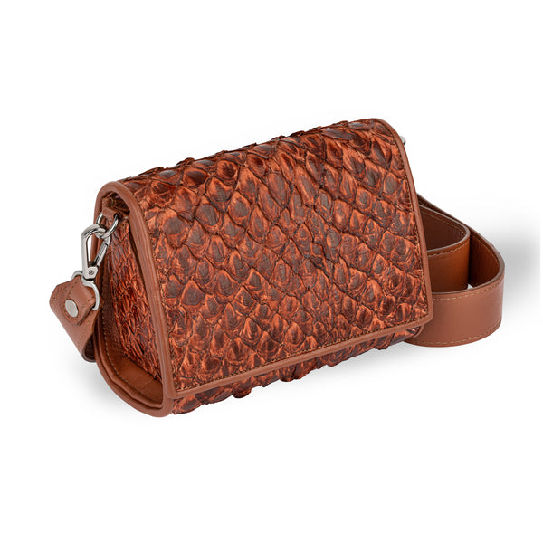 Lola Crossbody - Cognac Pirarucu