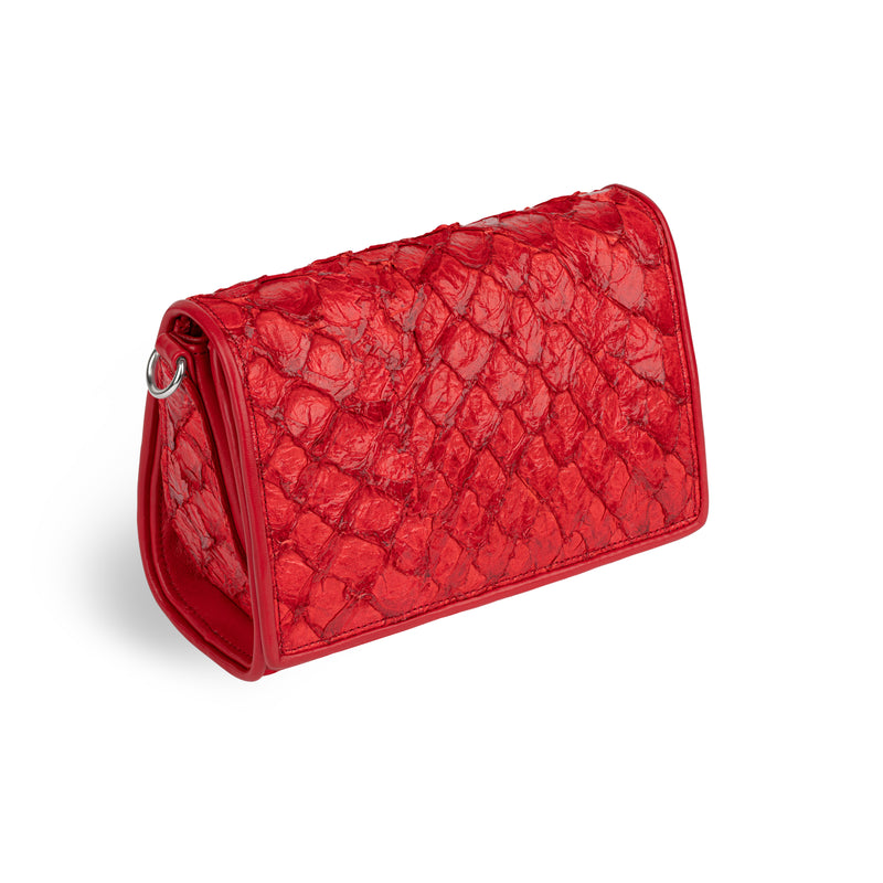 Lola Crossbody - Red Pirarucu
