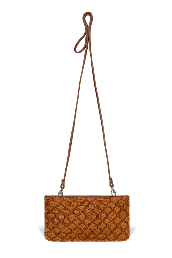 Nola Crossbody - Cognac Pirarucu