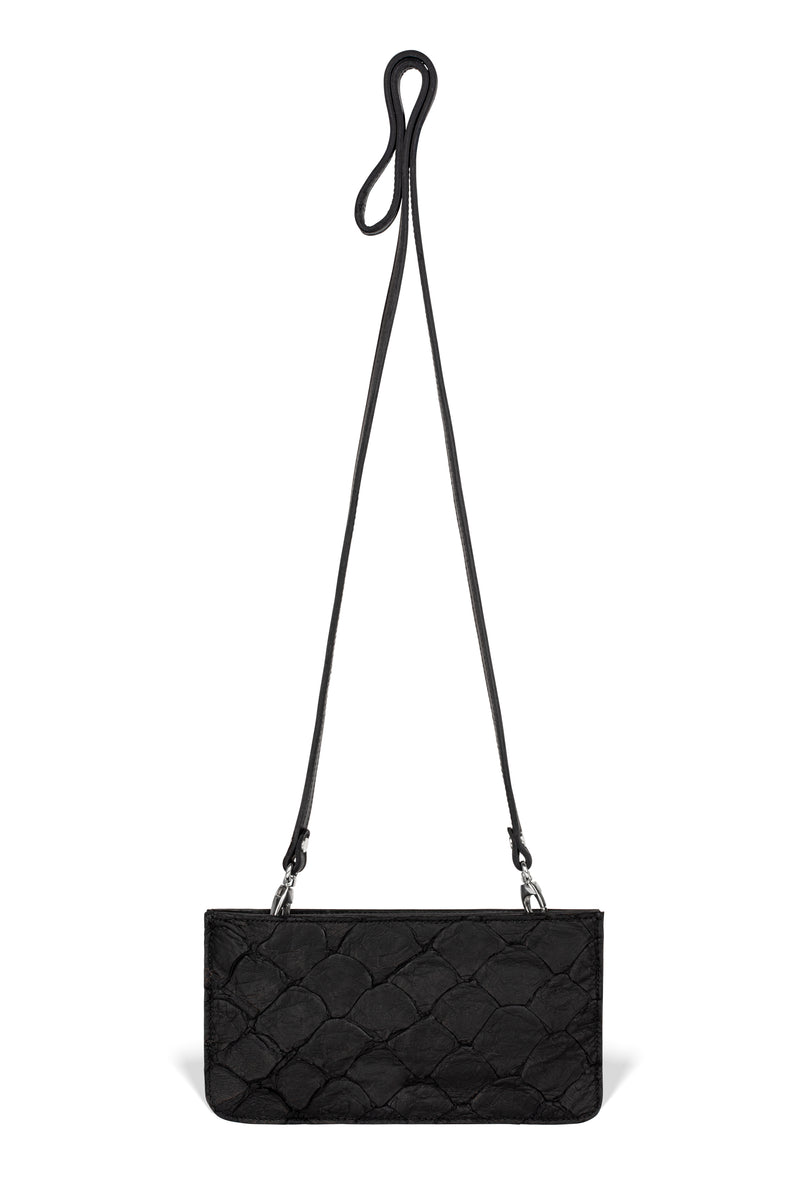 Nola Crossbody - Midnight Black Pirarucu