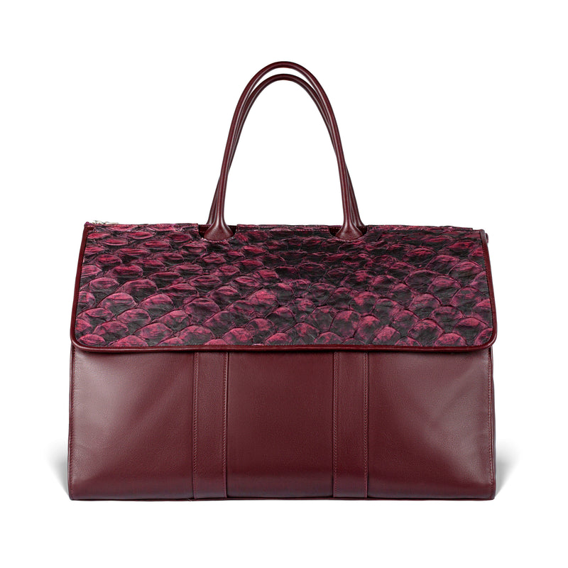 responsible luxury pirarucu weekender by piper & skye