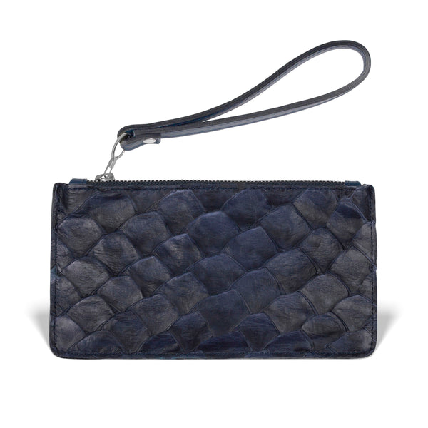 Daya Wristlet - Evening Blue Pirarucu