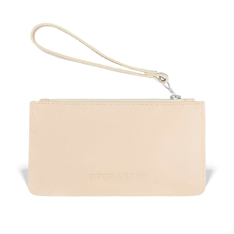 Daya Wristlet - Gold Embossed Leather