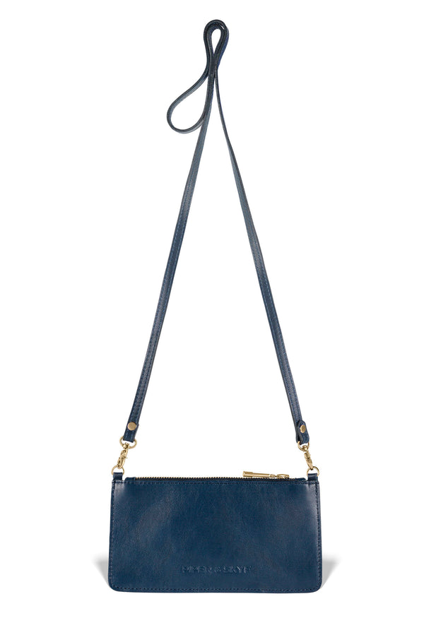 Nola Crossbody - Evening Blue Pirarucu - PRE-ORDER