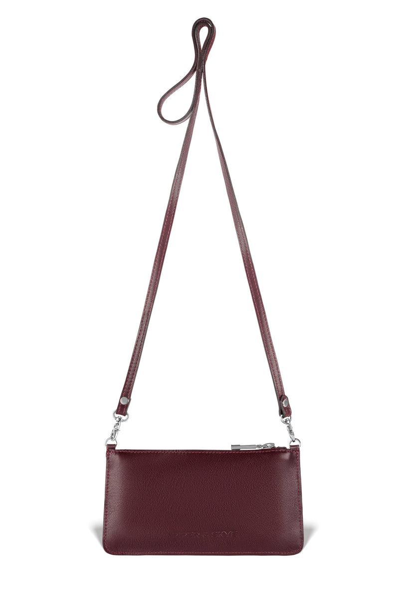 Nola Crossbody - Bordeaux Pirarucu
