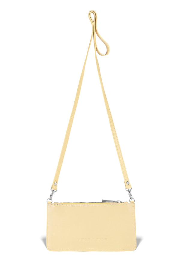 Nola Crossbody - Canary Yellow Pirarucu