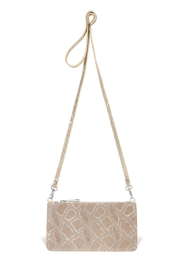 Nola Crossbody - Gold Embossed Leather