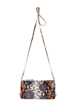 Nola Crossbody - Floral Embossed Leather