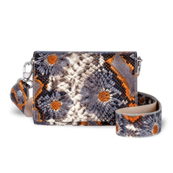 Lola Crossbody - Floral Embossed Leather