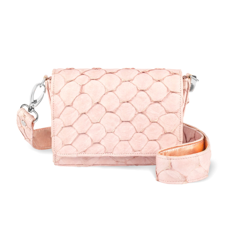 Lola Crossbody - Pink Pirarucu