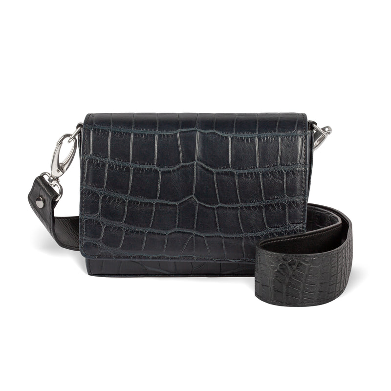 Lola Crossbody - Midnight Black Alligator - PRE-ORDER