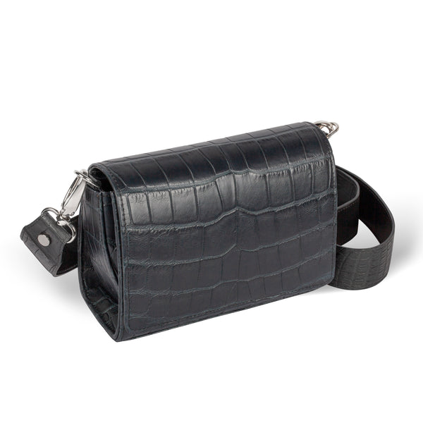 Lola Crossbody - Midnight Black Alligator