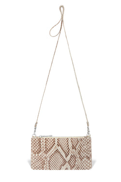 piper & skye python leather crossbody handbag