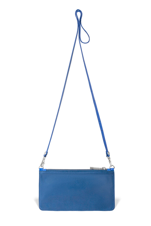 cobalt alligator leather responsible luxury crossbody