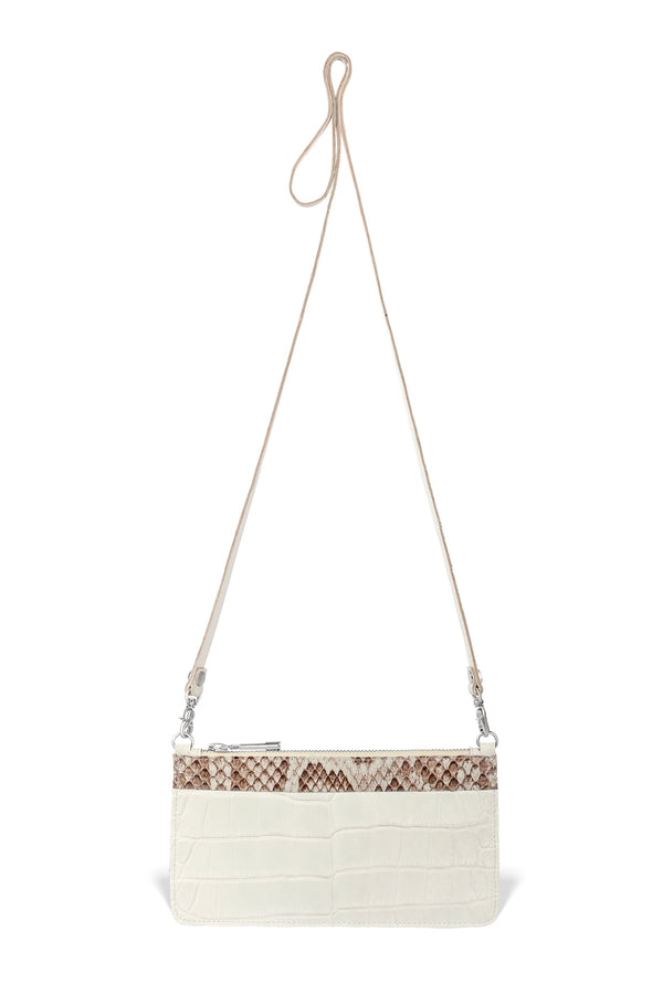 Nola Crossbody - Ivory Alligator / Python